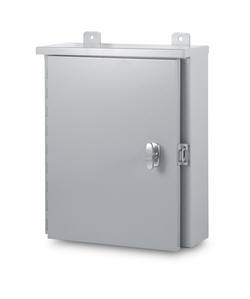 Austin large hinge cover NEMA 3R Outdoor Weatherproof cabinet box enclosure housing are Underwriters Laboratories Listed and are designed for outdoor use primarily to provide a degree of protection against rain, sleet, and damage from external ice formation. Outdoor weather-proof weather proof weatherproof housing large cabinet enclosure box for electric electrical and electronic equipment.